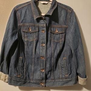 L.L.Bean denim jean jacket womens large